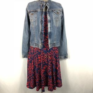 Triangle Blue Red and Green Lularoe Dress